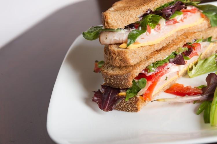 Homemade turkey breast sandwich