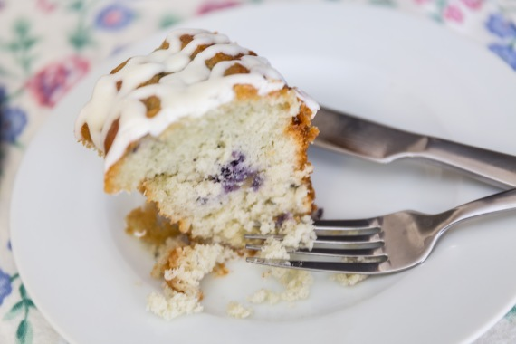 Luscious blueberry creme cake
