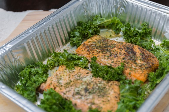Old fashioned oven-baked salmon