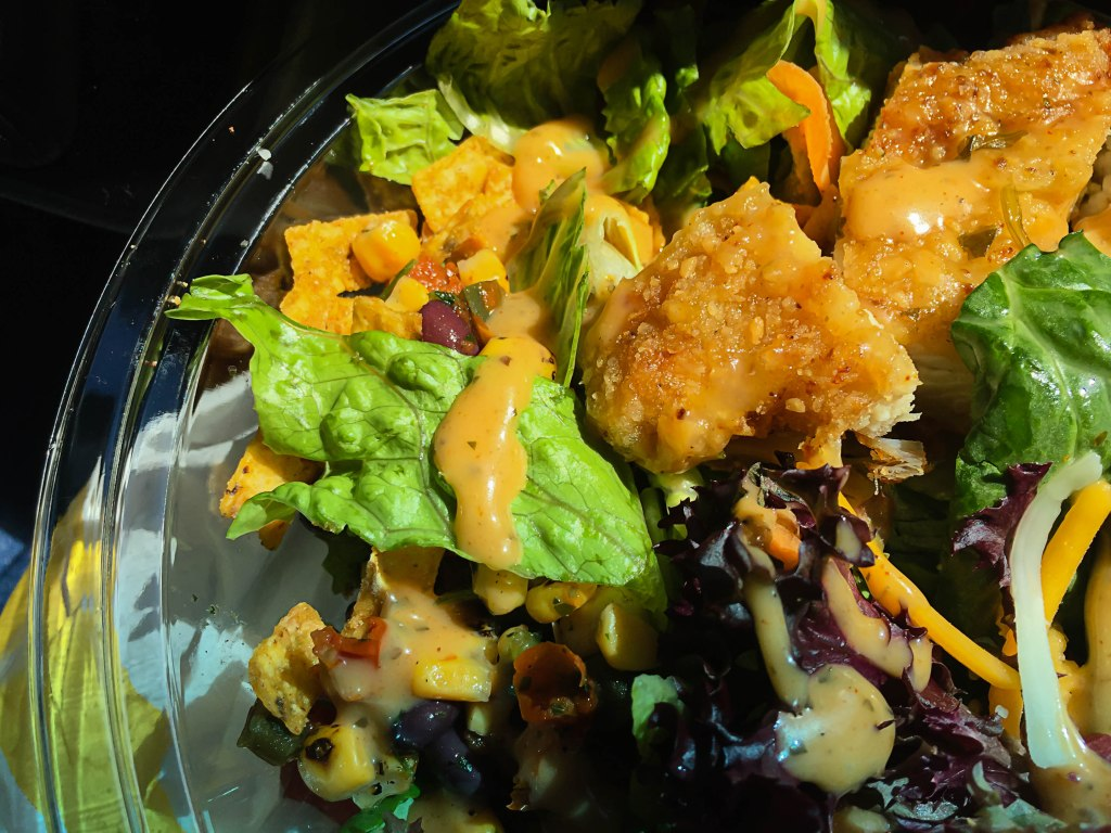 Mc Donald styled Southwest salad