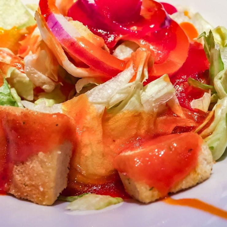 Garden salad/French dressing