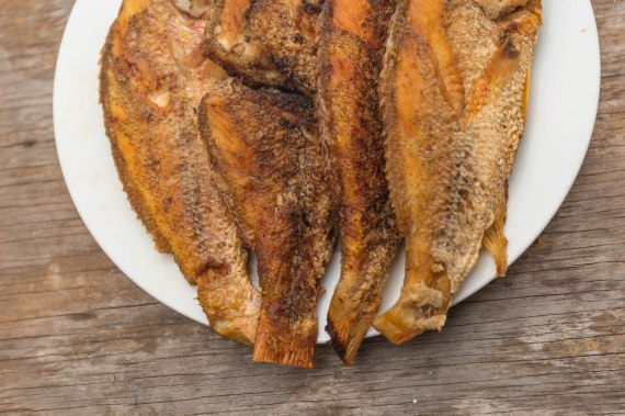 Miss Lou fried red snapper fish