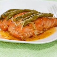 Healthful pink salmon