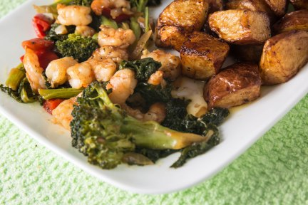Broccoli and shrimp-1-3