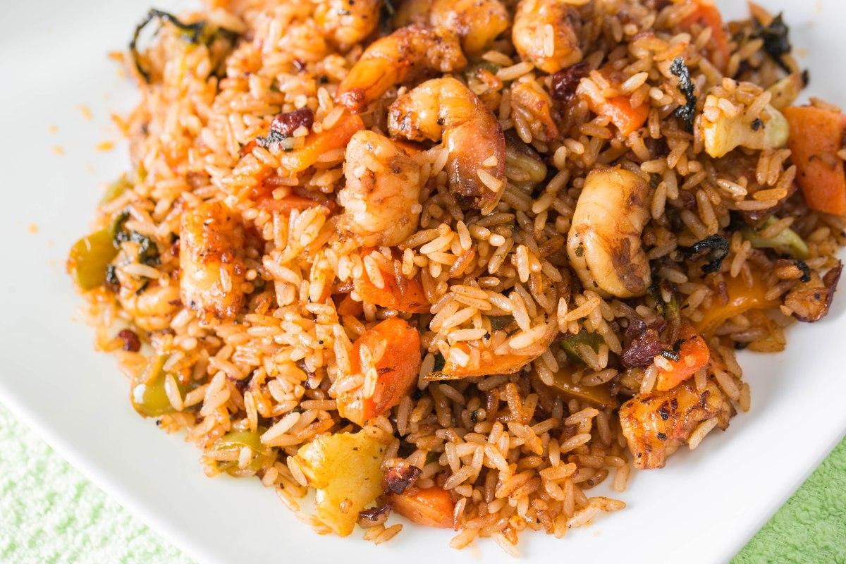 Jamaican Shrimp fried rice