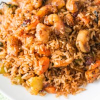Jamaican Shrimp fried rice