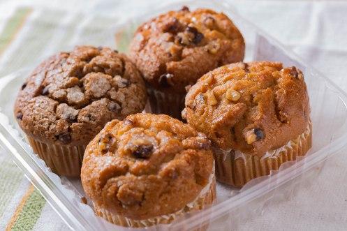 Gold choc cupcakes