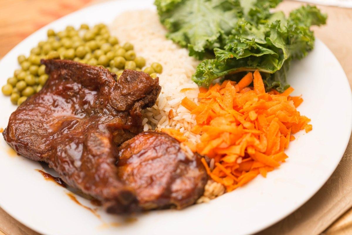Pork chops dinner