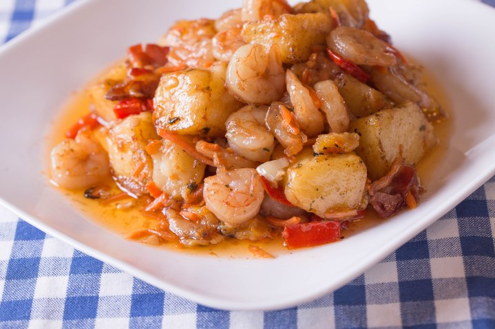 Bacon shrimp and potatoes