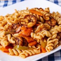 Jerk shrimp and pasta1-2