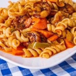 Jerk shrimp and pasta1-3