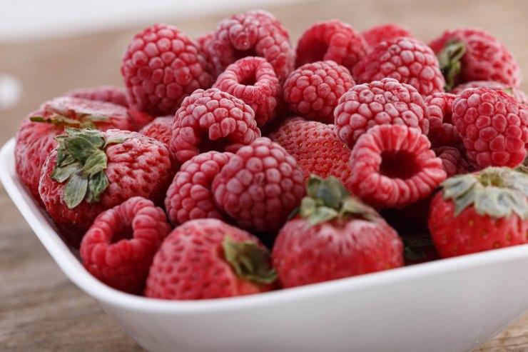 Raspberries-strawberries