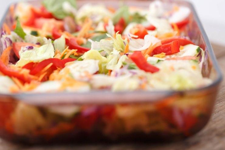 Seven ingredients vegi salad