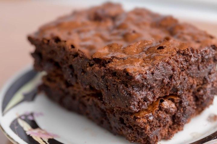Triple chunk brownie