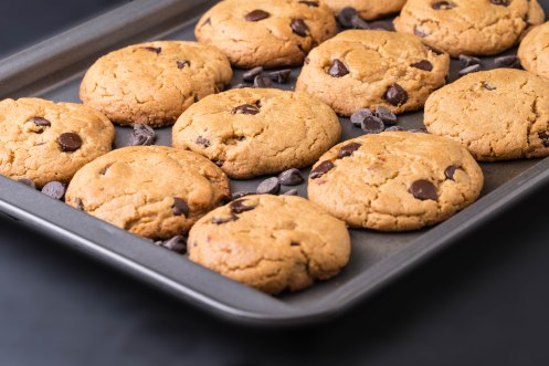 Chocolate chips peanut butter cookies-2