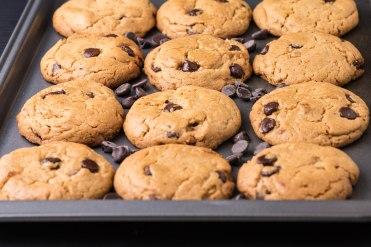 Chocolate chips peanut butter cookiesj