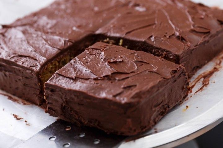 Chocolate covered banana cake