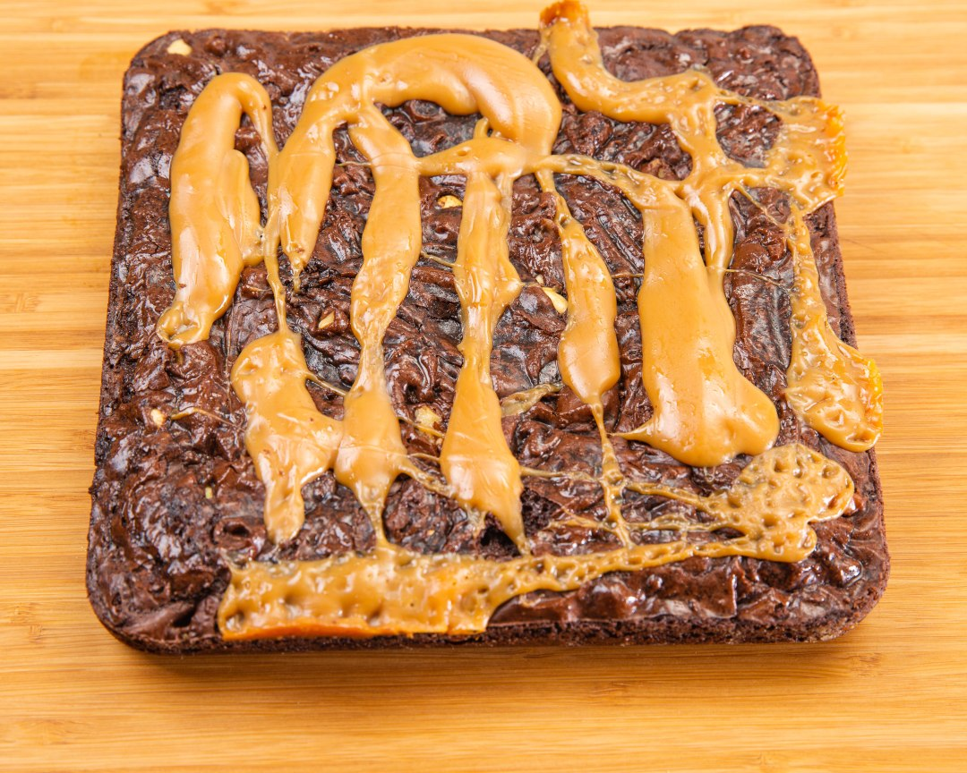 Caramel Walnuts Brownies-6