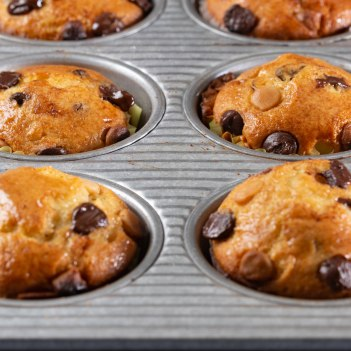 Mini chocolate chip muffins-3