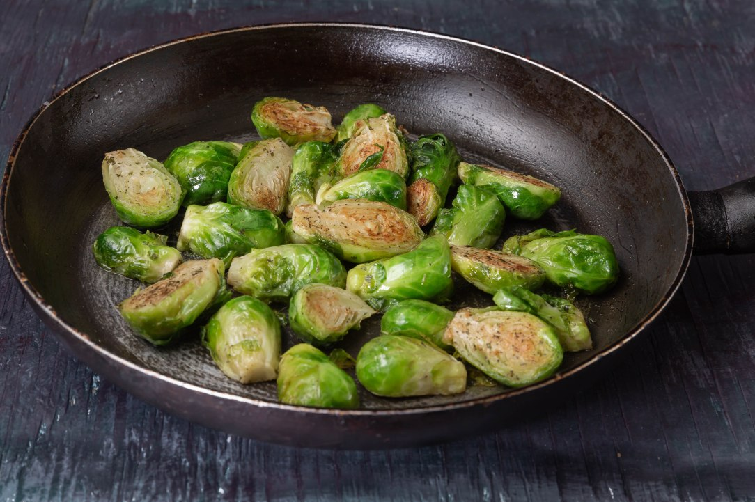 Steamed brussels sprouts-3