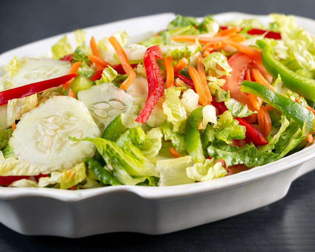 Fresh garden salad, made from organic vegetables.