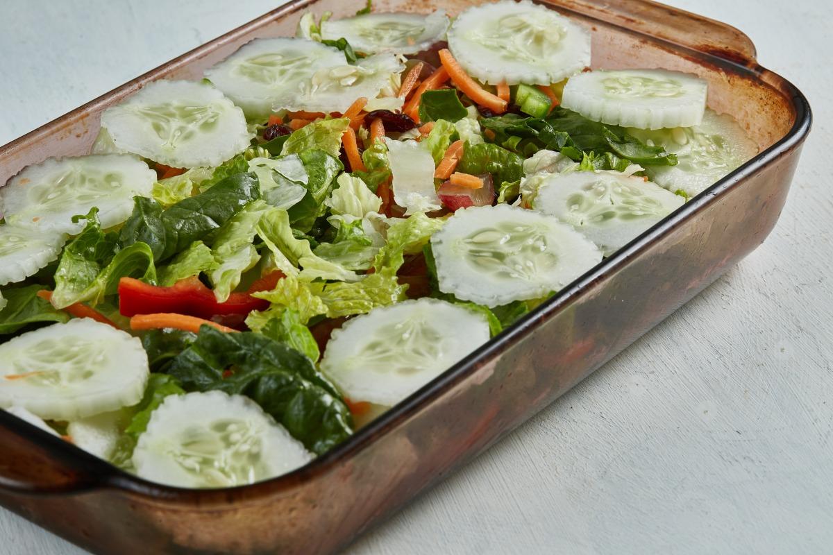 Organic garden salad