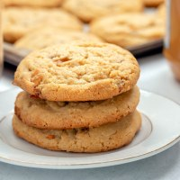 Peanut butter saulted caramel cookies.
