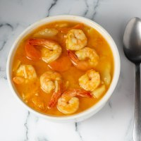 Tasty shrim and veggie soup