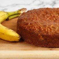 Vegan banana muffin cake